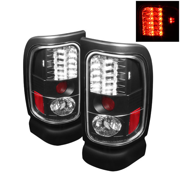 Spyder (5002693)  Dodge Ram 2500/3500 94-02 LED Tail Lights - Black  - (ALT-YD-DRAM94-LED-BK)