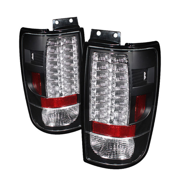 Spyder (5002853)  Ford Expedition 97-02 Version 2 LED Tail Lights - Black  - (ALT-YD-FE97-LED-G2-BK)
