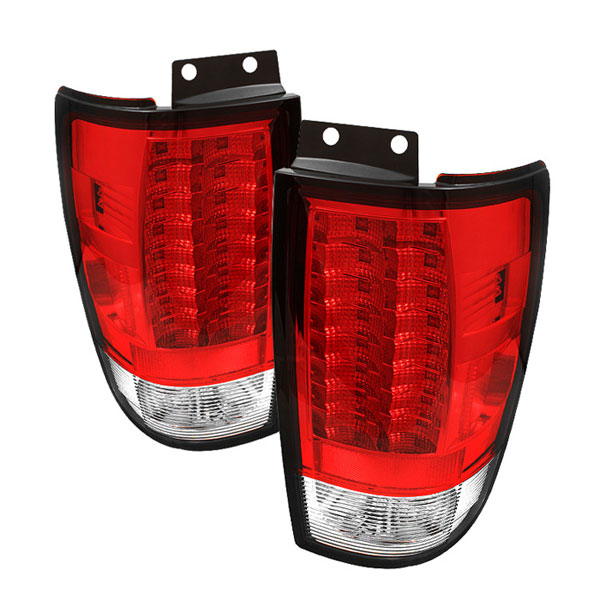 Spyder ALT-YD-FE97-LED-G2-RC:  Ford Expedition 97-02 Version 2 LED Tail Lights - Red Clear