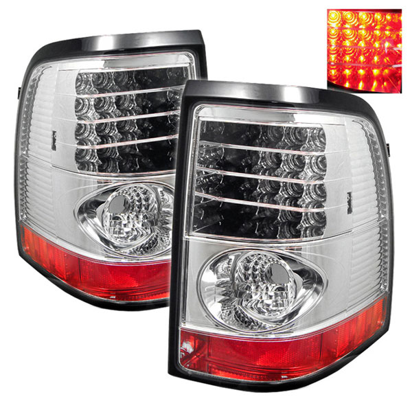 Spyder ALT-YD-FEXP02-LED-C:  Mercury Mountaineer 02-05 LED Tail Lights - Chrome