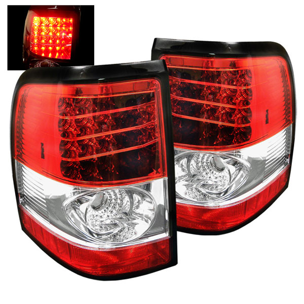 Spyder 5002976:  Ford Explorer 4Dr (Except Sport Trac) 02-05 LED Tail Lights - Red Clear  - (ALT-YD-FEXP02-LED-RC)