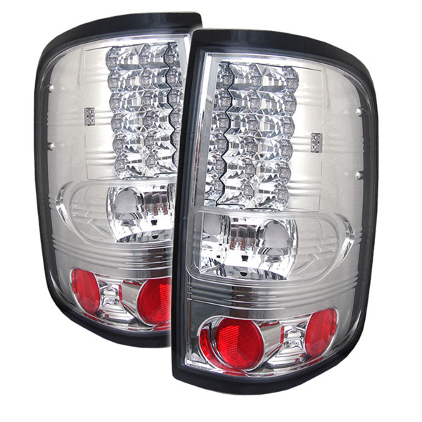 Spyder 5003256:  Ford F150 Styleside 04-08 (Not Fit Heritage & SVT) LED Tail Lights - Chrome  - (ALT-YD-FF15004-LED-C)