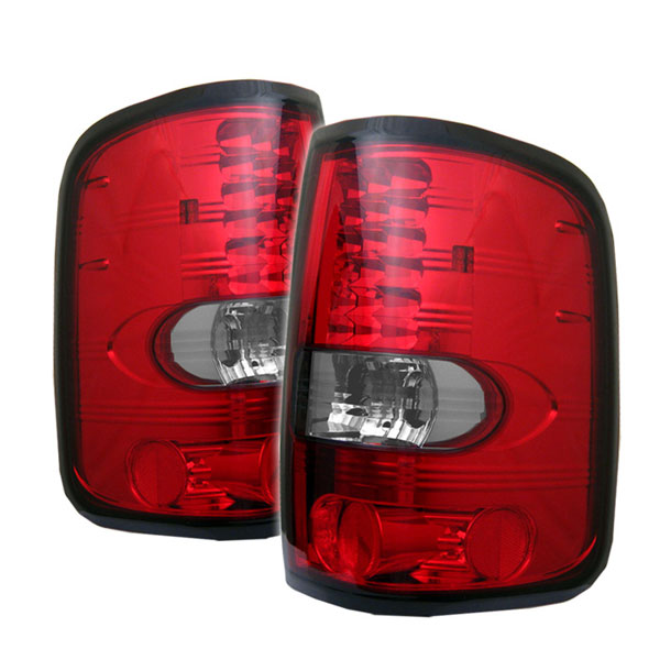 Spyder (5003263)  Ford F150 Styleside 04-08 (Not Fit Heritage & SVT) LED Tail Lights - Red Clear  - (ALT-YD-FF15004-LED-RC)