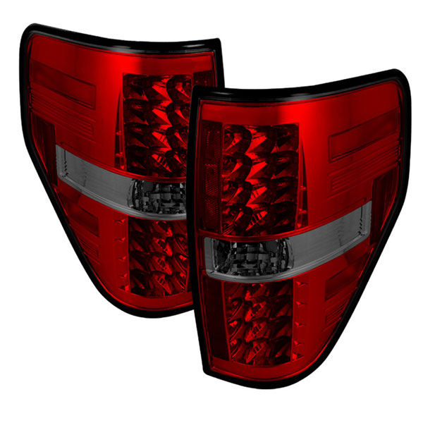 Spyder ALT-YD-FF15009-LED-RS:  Ford F150 Styleside 09-12 LED Tail Lights - Red Smoke