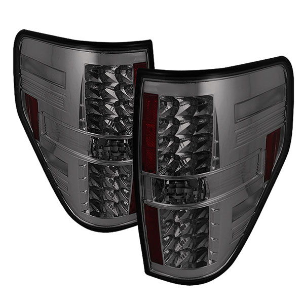 Spyder 5012340:  Ford F150 Styleside 09-12 LED Tail Lights - Smoke  - (ALT-YD-FF15009-LED-SM)