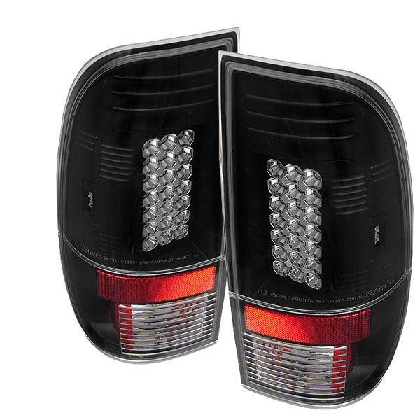 Spyder ALT-YD-FF15097-LED-BK:  Ford F250/350/450/550 Super Duty 99-07 LED Tail Lights - Black
