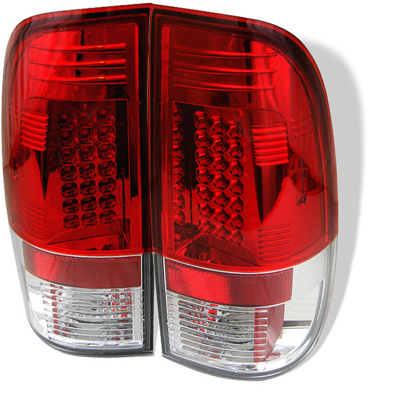 Spyder ALT-YD-FF15097-LED-RC:  Ford F150 Styleside 97-03 LED Tail Lights - Red Clear