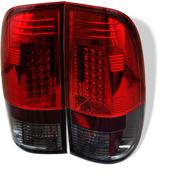 Spyder ALT-YD-FF15097-LED-RS:  Ford F150 Styleside 97-03 LED Tail Lights - Red Smoke