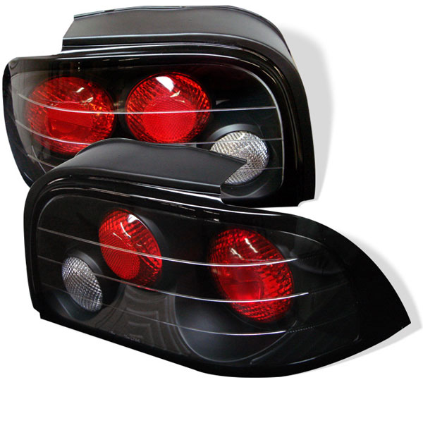 Spyder ALT-YD-FM94-BK:  Ford Mustang 94-95 Altezza Tail Lights - Black V6