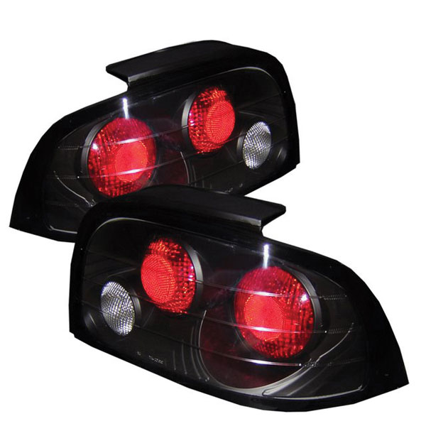 Spyder 5003621:  Ford Mustang 96-98 Altezza Tail Lights - Black  - (ALT-YD-FM96-BK)
