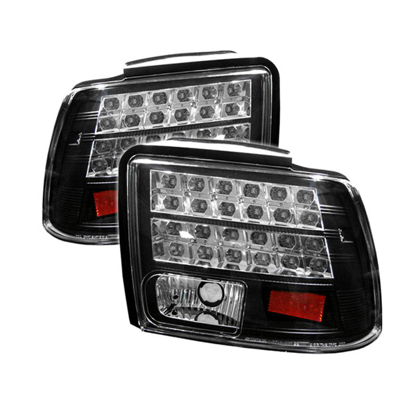 Spyder ALT-YD-FM99-LED-BK:  Ford Mustang 99-04 LED Tail Lights - Black