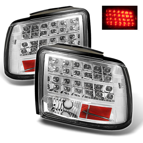 Spyder ALT-YD-FM99-LED-C:  Ford Mustang 99-04 LED Tail Lights - Chrome
