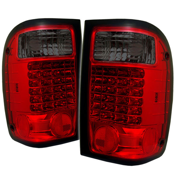 Spyder ALT-YD-FR98-LED-RS:  Ford Ranger 01-05 LED Tail Lights - Red Smoke