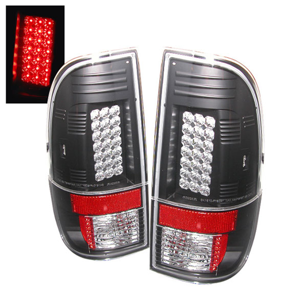 Spyder (5003898)  Ford F250/350/450/550 Super Duty 08-12 LED Tail Lights - Black  - (ALT-YD-FS07-LED-BK)