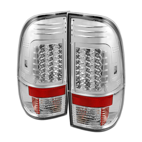 Spyder ALT-YD-FS07-LED-G2-C:  Ford F250/350/450/550 Super Duty 08-12 Version 2 LED Tail Lights - Chrome