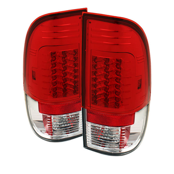 Spyder ALT-YD-FS07-LED-G2-RC:  Ford F250/350/450/550 Super Duty 08-12 Version 2 LED Tail Lights - Red Clear