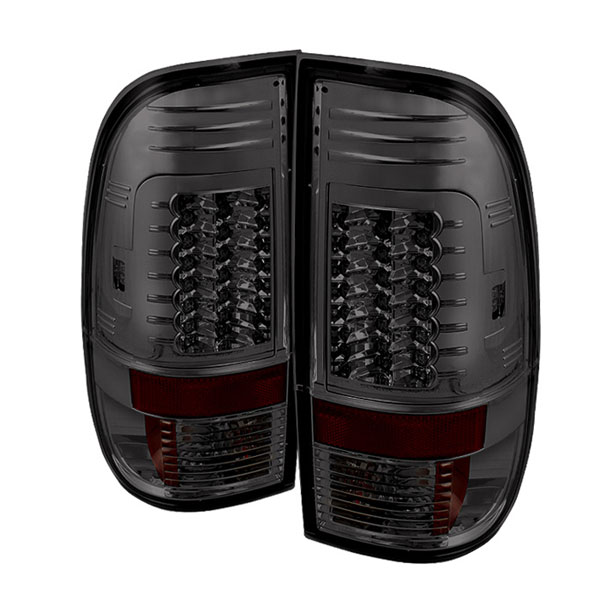 Spyder (5029201)  Ford F250/350/450/550 Super Duty 08-12 Version 2 LED Tail Lights - Smoke  - (ALT-YD-FS07-LED-G2-SM)