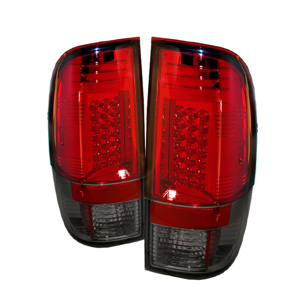 Spyder ALT-YD-FS07-LED-RS:  Ford F250/350/450/550 Super Duty 08-12 LED Tail Lights - Red Smoke