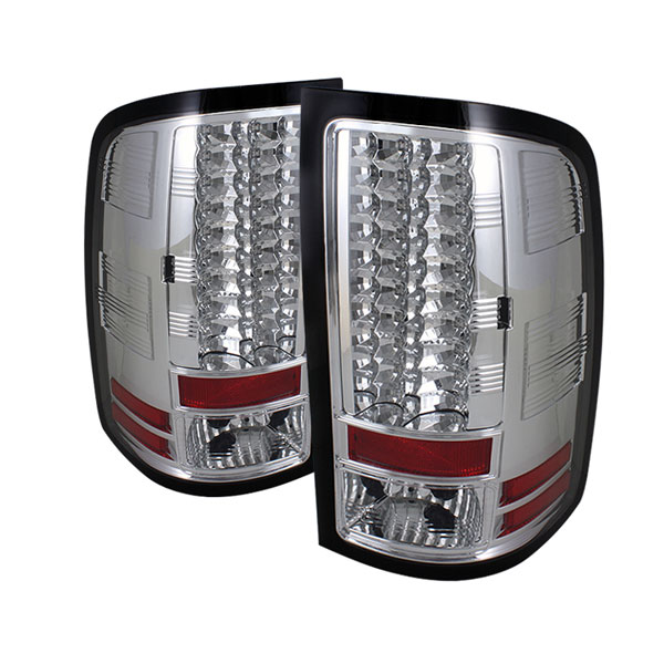 Spyder ALT-YD-GS07-LED-C:  GMC Sierra 1500/2500/3500HD Denali 07-12 (Not fit 3500 Dually 4 Rear Wheels) LED Tail Lights - Chrome