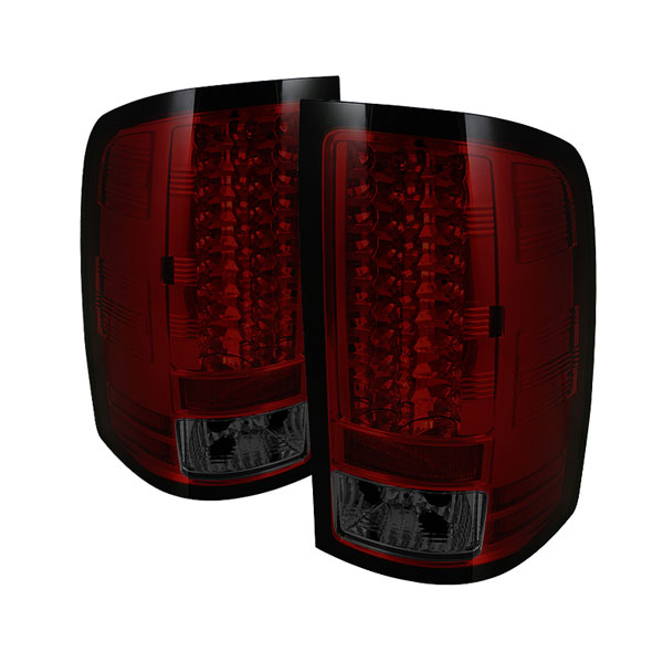 Spyder ALT-YD-GS07-LED-RS:  GMC Sierra 1500/2500/3500HD Denali 07-12 (Not fit 3500 Dually 4 Rear Wheels) LED Tail Lights - Red Smoke