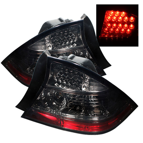 Spyder ALT-YD-HC04-2D-LED-SM:  Honda Civic 04-05 2Dr LED Tail Lights - Smoke