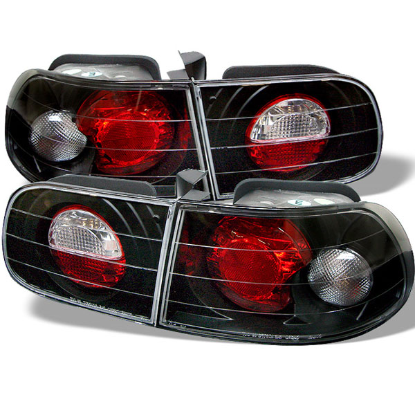 Spyder 5004680:  Honda Civic 92-95 3DR Altezza Tail Lights - Black  - (ALT-YD-HC92-3D-BK)