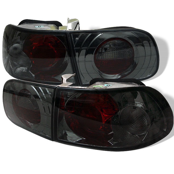 Spyder ALT-YD-HC92-3D-SM:  Honda Civic 92-95 3DR Altezza Tail Lights - Smoke