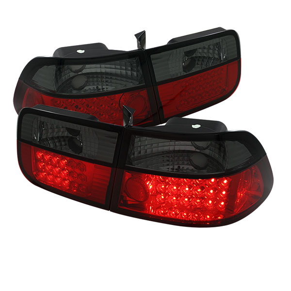 Spyder ALT-YD-HC96-2D-LED-RS:  Honda Civic 96-00 2Dr LED Tail Lights - Red Smoke