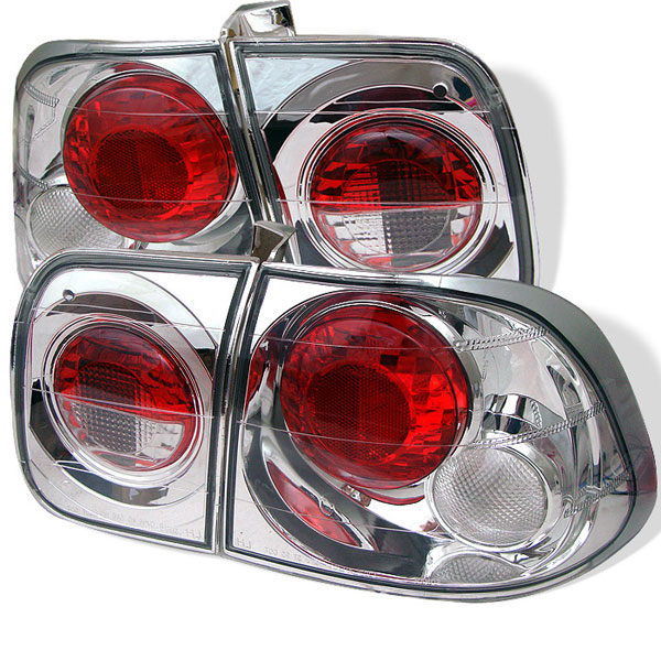 Spyder ALT-YD-HC96-4D-C:  Honda Civic 96-98 4Dr Altezza Tail Lights - Chrome