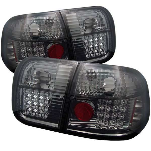 Spyder ALT-YD-HC96-4D-LED-SM:  Honda Civic 96-98 4Dr LED Tail Lights - Smoke