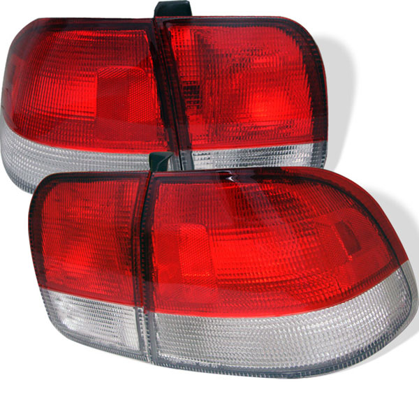 Spyder ALT-YD-HC96-4D-RC:  Honda Civic 96-98 4Dr Tail Lights - Red Clear
