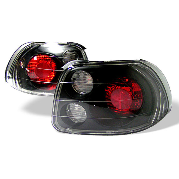 Spyder ALT-YD-HDS93-BK:  Honda Del Sol 93-97 Altezza Tail Lights - Black