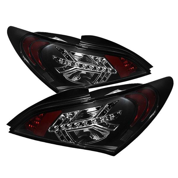 Spyder 5034304 |  Hyundai Genesis 10-12 2Dr LED Tail Lights - Black  - (ALT-YD-HYGEN09-LED-BK)