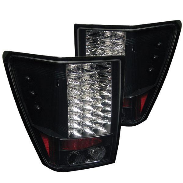 Spyder 5005526 |  Jeep Grand Cherokee LED Tail Lights - Black - (ALT-YD-JGC05-LED-BK); 2005-2006