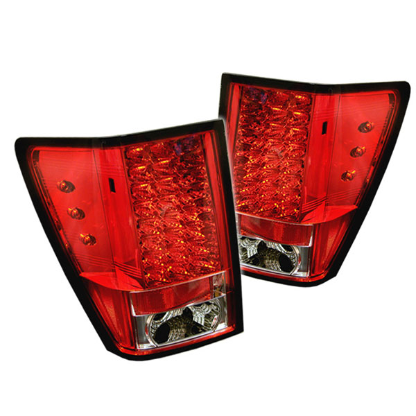 Spyder ALT-YD-JGC05-LED-RC:  Jeep Grand Cherokee 05-06 LED Tail Lights - Red Clear