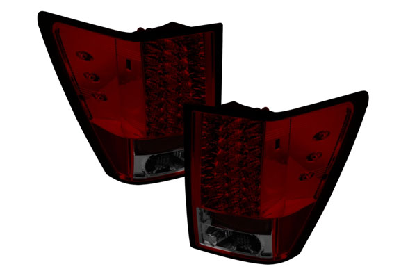 Spyder ALT-YD-JGC05-LED-RS:  Jeep Grand Cherokee 05-06 LED Tail Lights - Red Smoke