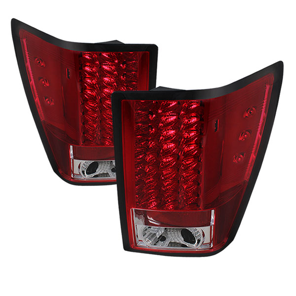 Spyder ALT-YD-JGC07-LED-RC:  Jeep Grand Cherokee 07-10 LED Tail Lights - Red Clear