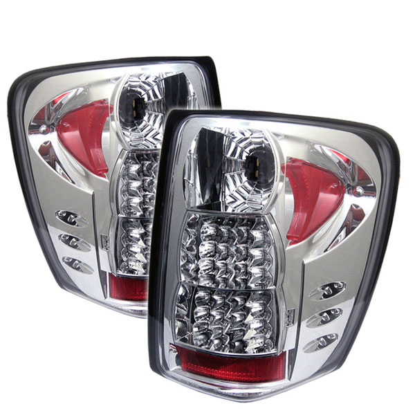 Spyder ALT-YD-JGC99-LED-C:  Jeep Grand Cherokee 99-04 ( LED Indicator ) LED Tail Lights - Chrome