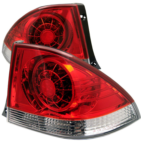 Spyder ALT-YD-LIS300-LED-RC:  Lexus IS 300 01-03 LED Tail Lights - Red Clear