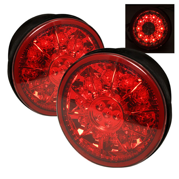 Spyder (5005861)  Lexus IS 300 01-03 LED Trunk Tail Lights - Red Clear  - (ALT-YD-LIS300-TR-LED-RC)