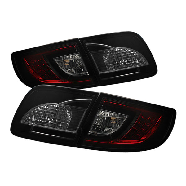 Spyder ALT-YD-M303-LED-RS:  Mazda 3 03-08 4Dr Sedan ( Non Hatchback ) LED Tail Lights - Red Smoke