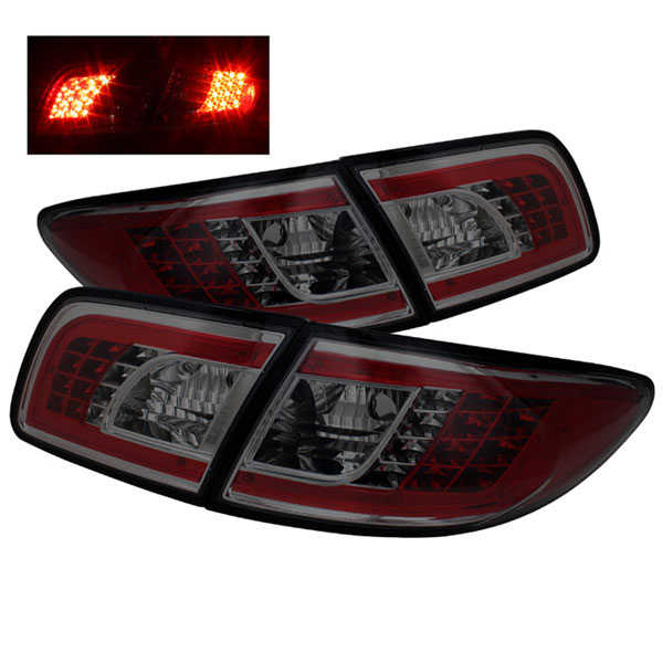Spyder ALT-YD-M603-LED-SM:  Mazda 6 03-08 4/5DR (Not fit Wagon) LED Tail Lights - Smoke