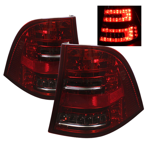 Spyder ALT-YD-MBW16398-LED-RS:  Mercedes Benz W163 M-Class ML 98-05 LED Tail Lights - Red Smoke