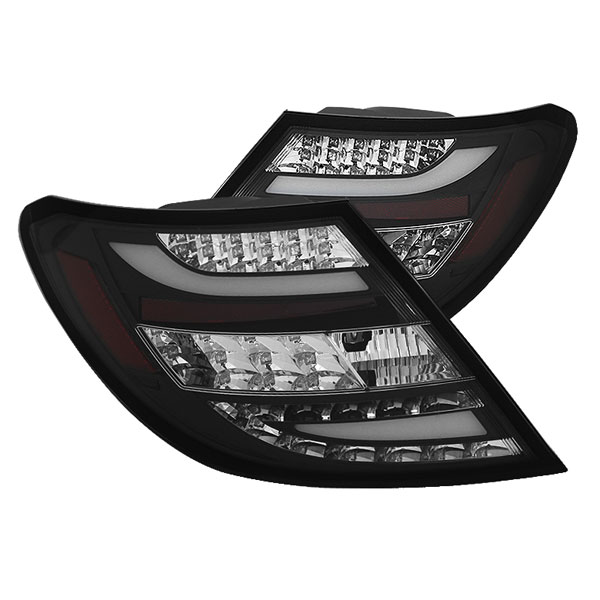 Spyder ALT-YD-MBZC11-LED-BK:  Mercedes Benz W204 C-Class 11-12 LED Tail Lights - Black