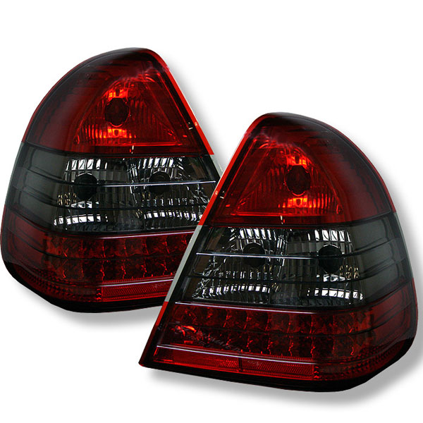 Spyder ALT-YD-MBZC94-LED-RS:  Mercedes Benz W202 C-class 94-00 Led Tail Lights - Red Smoke