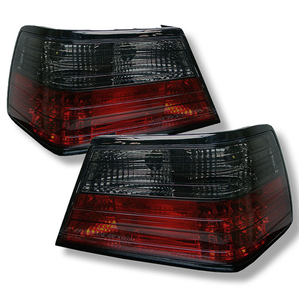 Spyder (5006202)  Mercedes Benz W124 E-class 86-95 Led Tail Lights - Red Smoke  - (ALT-YD-MBZE86-LED-RS)