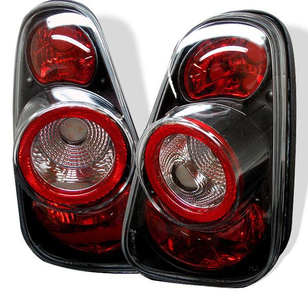 Spyder 5006240 |  Mini Cooper / Cooper Convertibles Altezza Tail Lights - Black - (ALT-YD-MC02-BK); 2002-2006