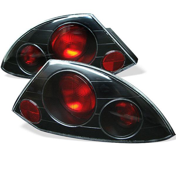 Spyder 5006288 |  Mitsubishi Eclipse Altezza Tail Lights - Black - (ALT-YD-ME00-BK); 2000-2002