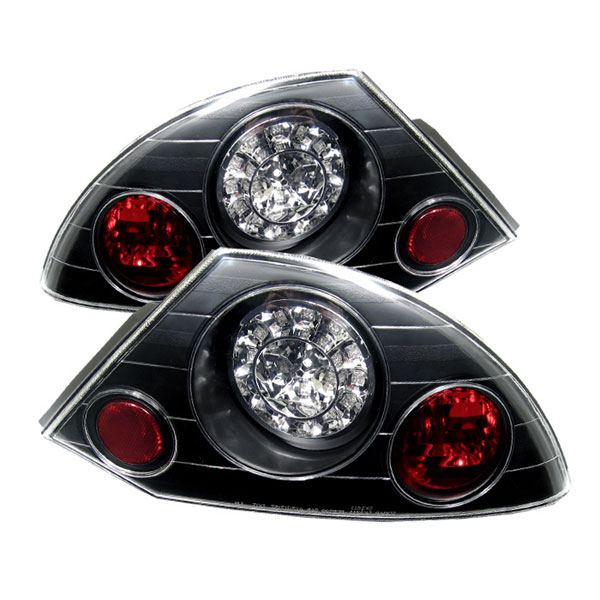 Spyder (5006318)  Mitsubishi Eclipse 00-02 LED Tail Lights - Black  - (ALT-YD-ME00-LED-BK)