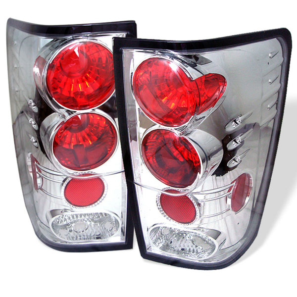 Spyder (5007032)  Nissan Titan 04-12 Altezza Tail Lights - Chrome  - (ALT-YD-NTI04-C)